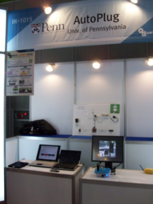 Picture of new setup of AutoPlug booth