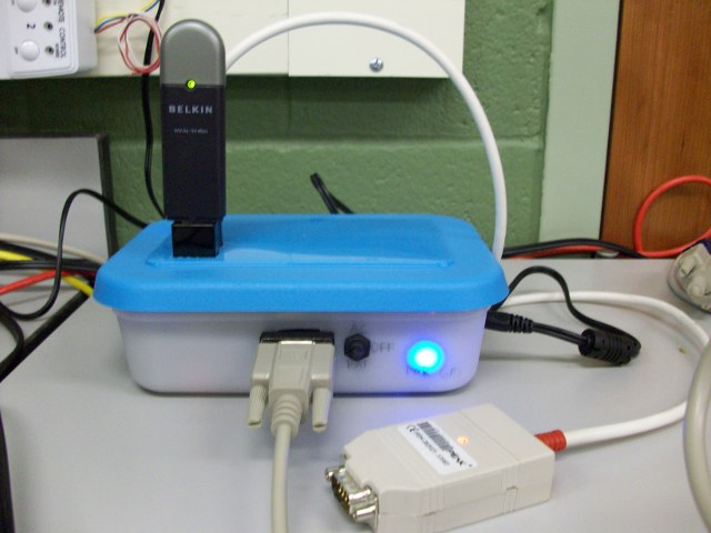 Picture of AutoPlug device powered on