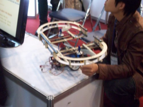 Picture of birotor helicopter car project