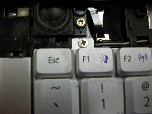 Picture of screw above F1 key