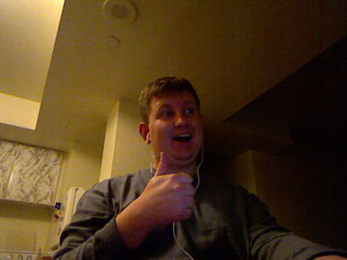 Picture of Kevin taken using Kinect
