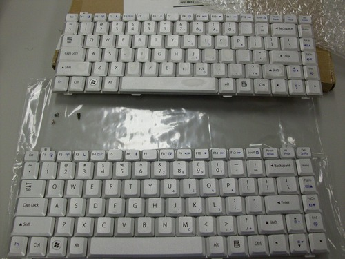 Picture of old and new keyboards next to each other