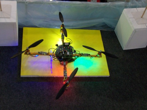 Picture of quadrotor helicopter project
