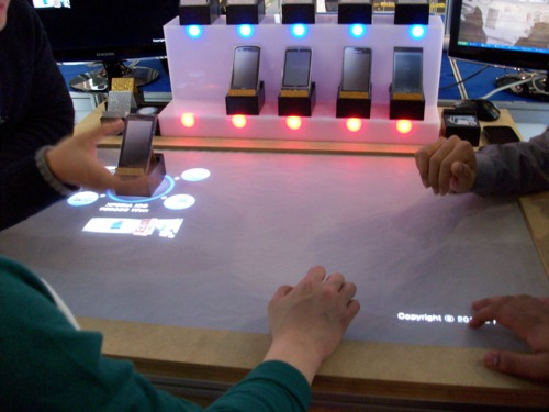Picture of table-top touchscreen for smartphones
